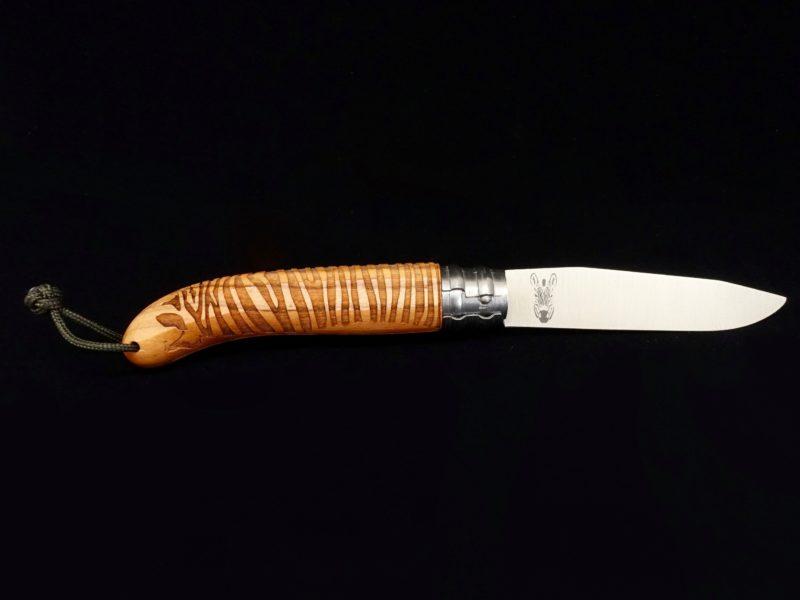 Couteau Verdier L'Alpage Zèbre Olivier
