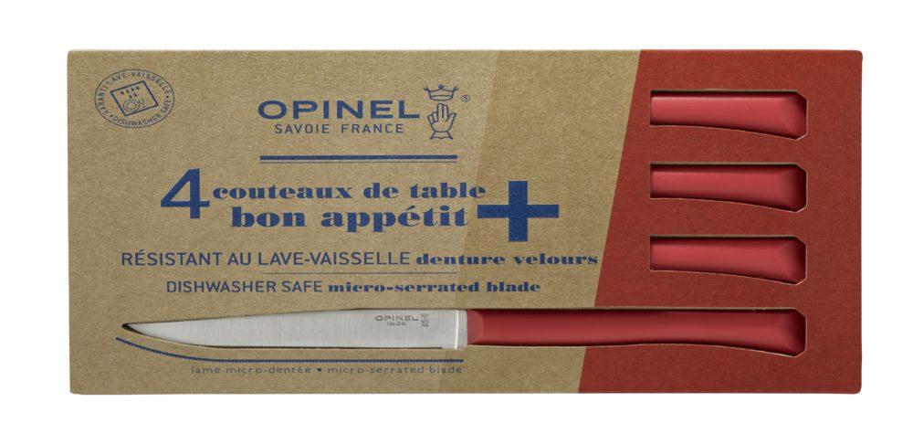 Boite de 4 Opinel Couteau de table Bon Appetit + Rouge