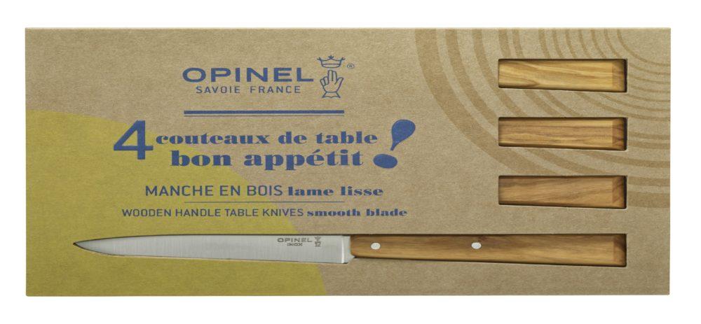 Boite de 4 Couteau Opinel N°125 Esprit Sud en Olivier