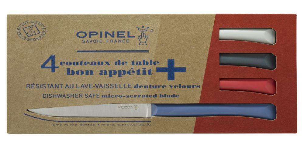 Boite de 4 Opinel Couteau de table Bon Appetit + Primo