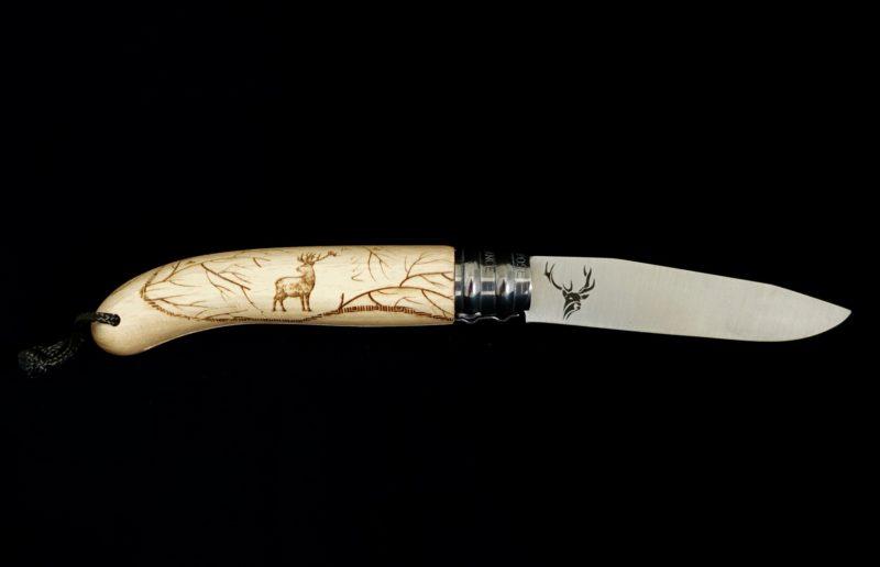Couteau pliant Verdier L'Alpage Cerf Hêtre