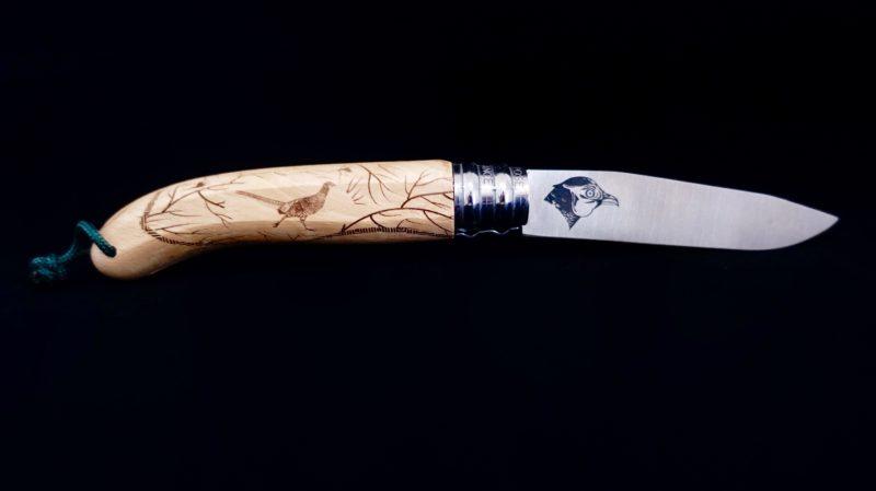 Couteau Verdier L'Alpage Faisan en bois de hêtre