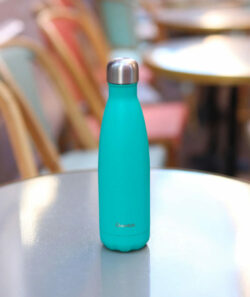 Bouteille Bleu lagon Isotherme Qwetch